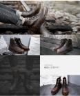 冬季工装鞋男高帮新款真皮马丁靴加绒休闲英伦厚底复古战狼同款鞋189,尺码38-44