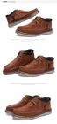 冬季男鞋英伦工装鞋短靴棉靴高帮反绒皮加绒加厚AS保暖休闲棉鞋B288,尺码38-45(加绒、皮款)