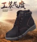 冬季马丁靴男英伦风短靴高帮雪地靴真皮靴子工装靴男0907,尺码39-44